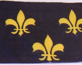 French Fleur De Lis Flag Blue French Historical Lilly Banner