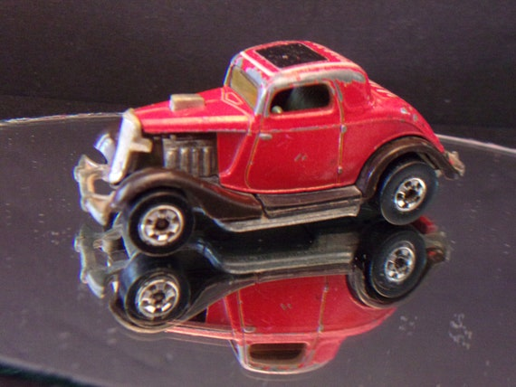 Hot Rod Wheels 3 Coupé Top Zz Window Vintage Mattel 34 Ford 29WEDHIY
