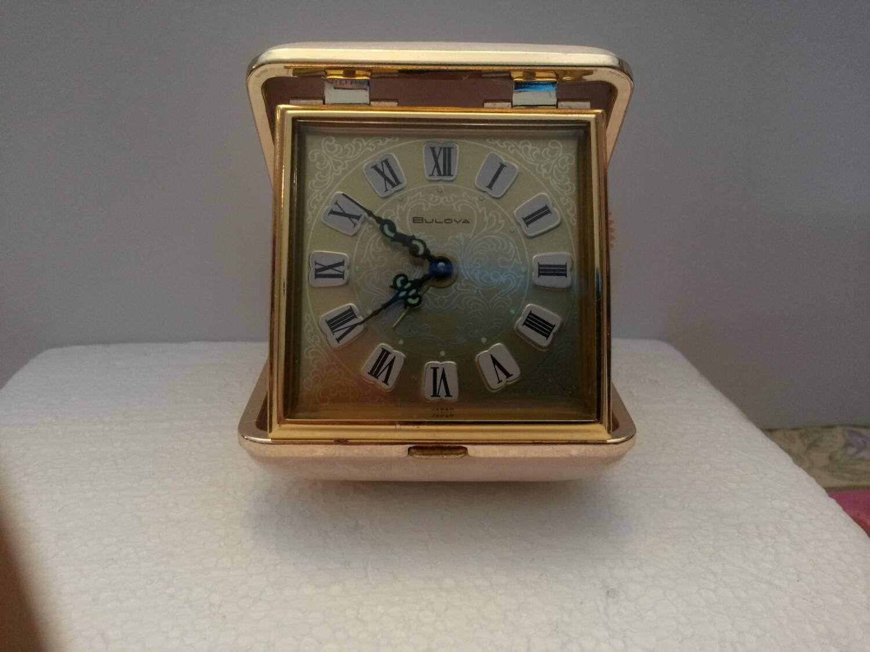 Vintage Bulova Travel Alarm Clock Wind Up 1980s White Etsy