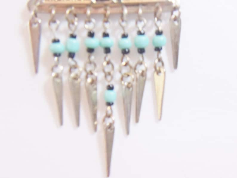 Geometric Chandelier Earrings Turquoise Beaded Boho Jewelry Fashion Accessories For Her