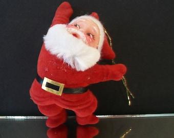 Santa Claus Flocked Christmas Ornament Festive Traditional Holiday Home Decor