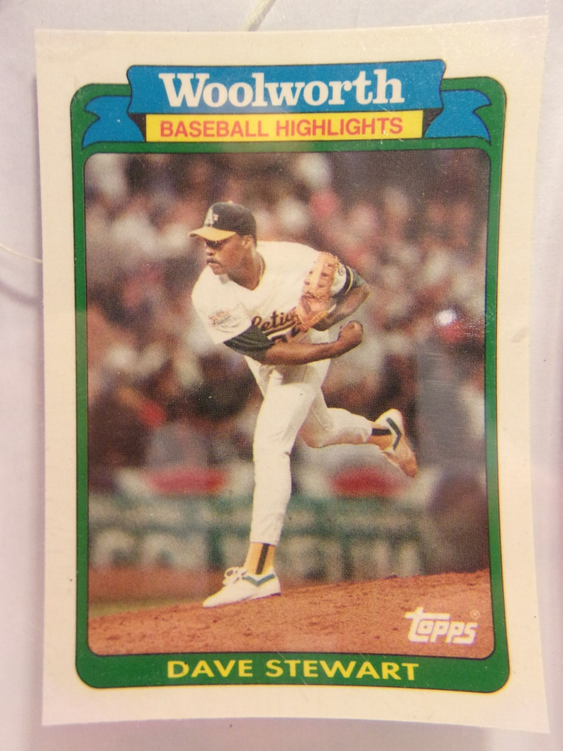 Woolworth/'s  1989 ATHLETICS  #25 1989 Dave Stewart Baseball Card Pitcher Ball Player