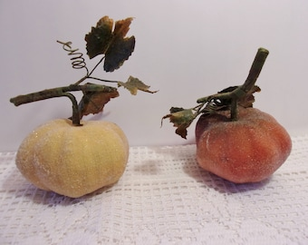 Sugared Fruit Pumpkin Gourd Halloween Thanksgiving Holiday Country Kitchen Harvest Crafts Decorative Home Decor