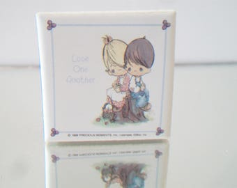 Vintage Precious Moments Refrigerator Magnet Love One Another Giftco Inc. Kitchen Home Decor