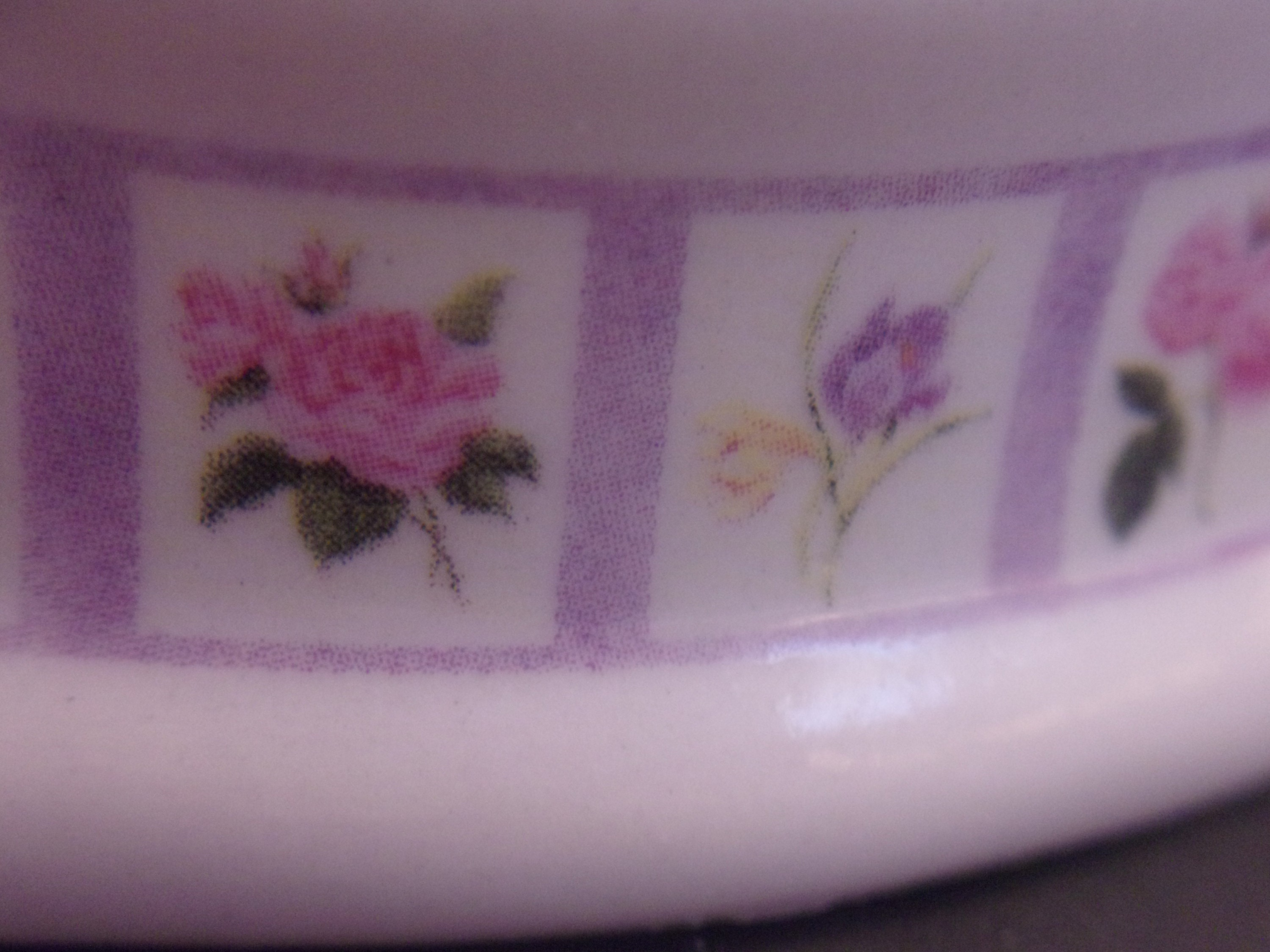 Bill Barnes Floral Ring Holder Dish Flowers Rose Crocus Lilac Peony Vanity Table Home Decor