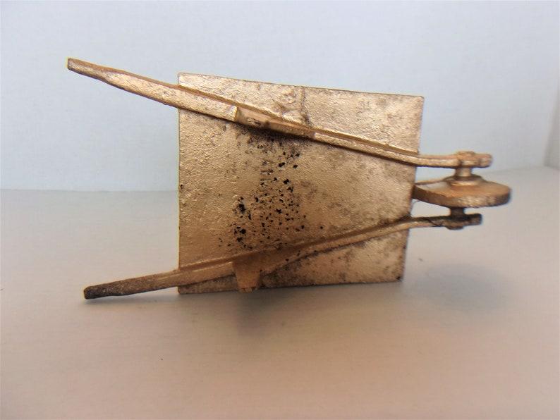 Gold Wheelbarrow Cast Iron Gardening Home Decor