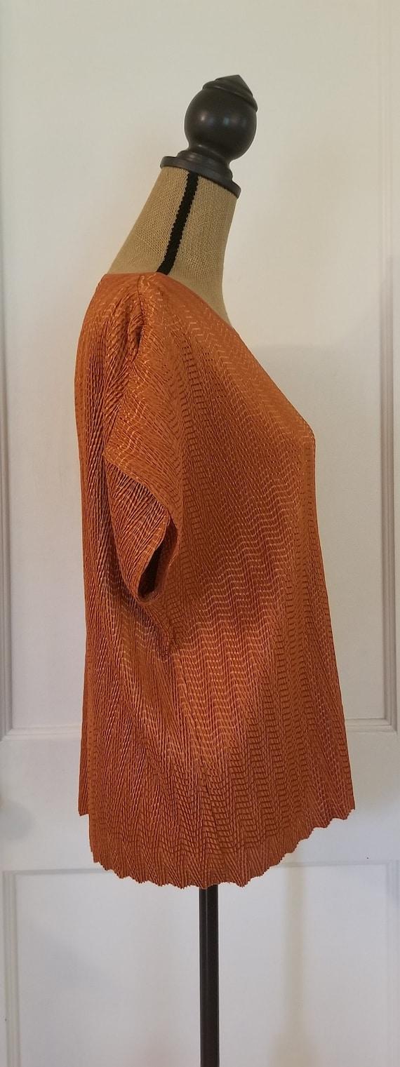Vintage 1990's Harvest Orange Tan Jay Short Sleev… - image 5