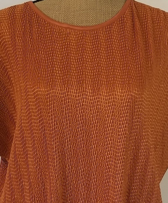 Vintage 1990's Harvest Orange Tan Jay Short Sleev… - image 4