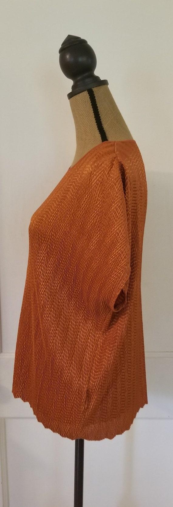 Vintage 1990's Harvest Orange Tan Jay Short Sleev… - image 6