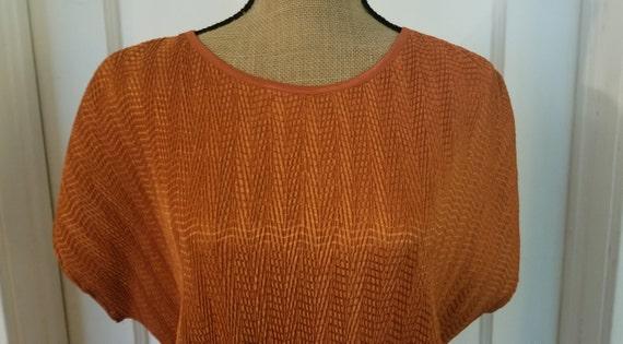 Vintage 1990's Harvest Orange Tan Jay Short Sleev… - image 2