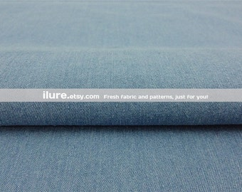 "premium quality lycra stretch  denim fabric material  blue 54/"" wide"