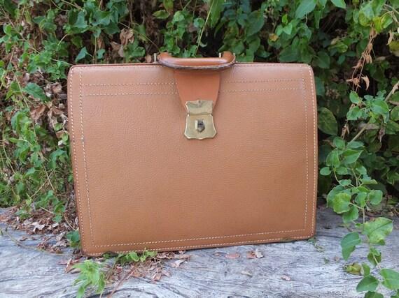 1950s/60s Briedcase, Vintage Luggage, Split CowHid