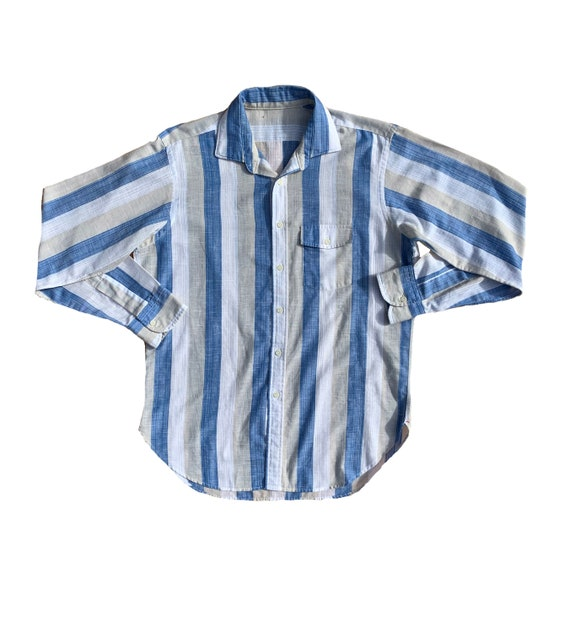 Vintage Striped Button-Up