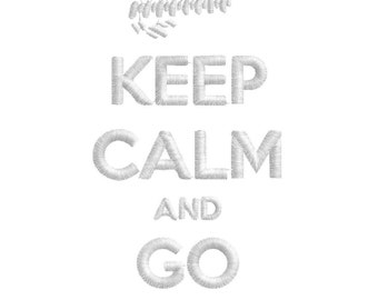 Keep calm! GO MUDDING! Embroidery Design Keep calm and carry on, 4x4 life, mudders lifestyle,