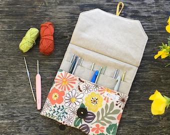 """Crochet hook case / Needle holder for 6""""DPN's"""
