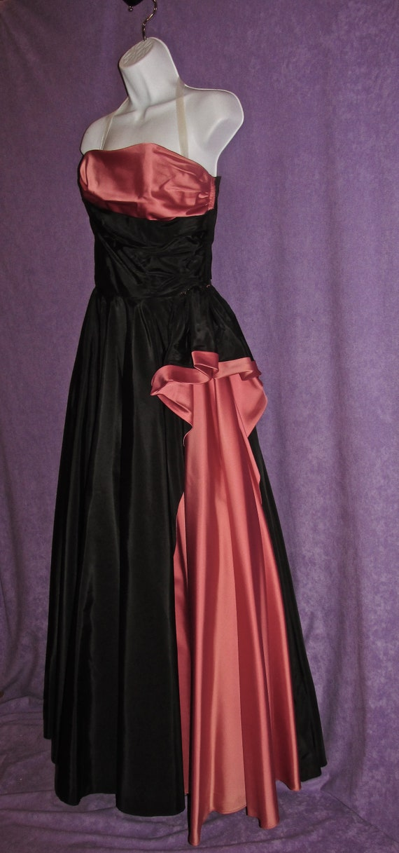 Vintage Evening Gown 50s By Modern Culture Hollwood Black &   Etsy