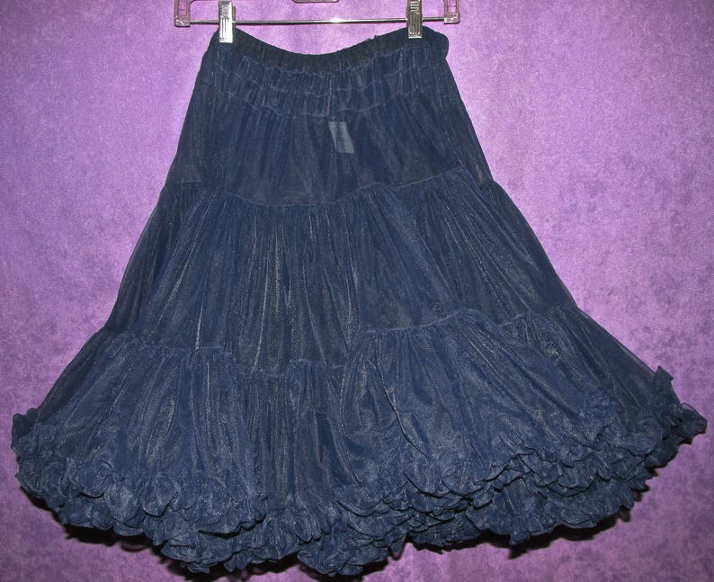 4d73329c4c Navy Blue Soft Ruffled Petticoat Partners Please Malco Modes