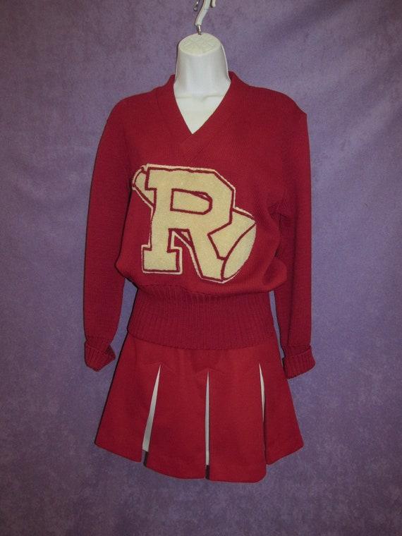 Vintage Cheerleader Classic Uniform Sweater Skirt