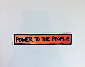 power to the people political activism democratic sticker