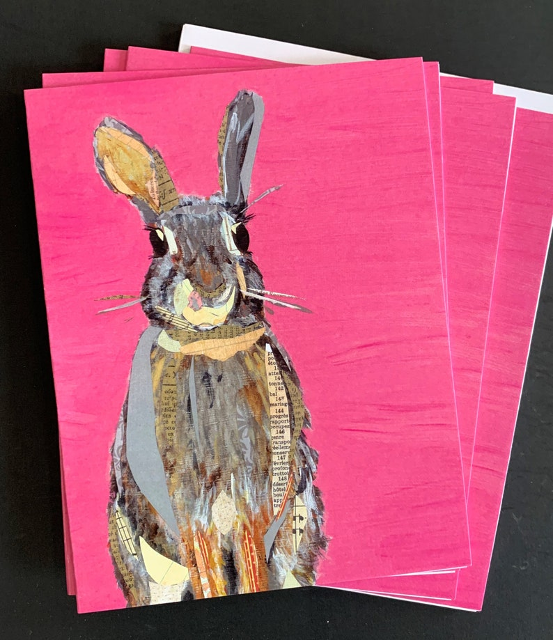 Bunny on Pink  Notecard Set image 0