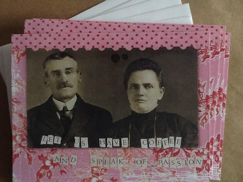 Let Us Drink Coffee And Speak Of Passion Notecard Set Vintage image 0