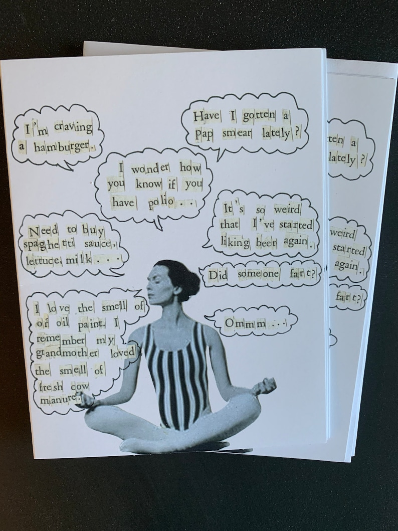 Being In The Present Yoga Single Notecard image 0