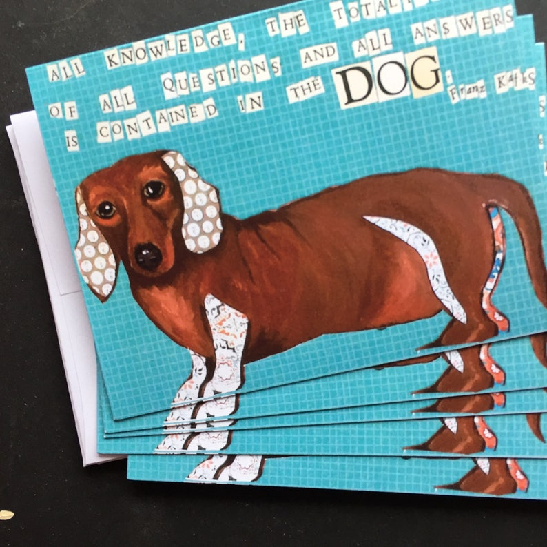 Joy of Dogs With Dachsund All Occasion Card Set image 0