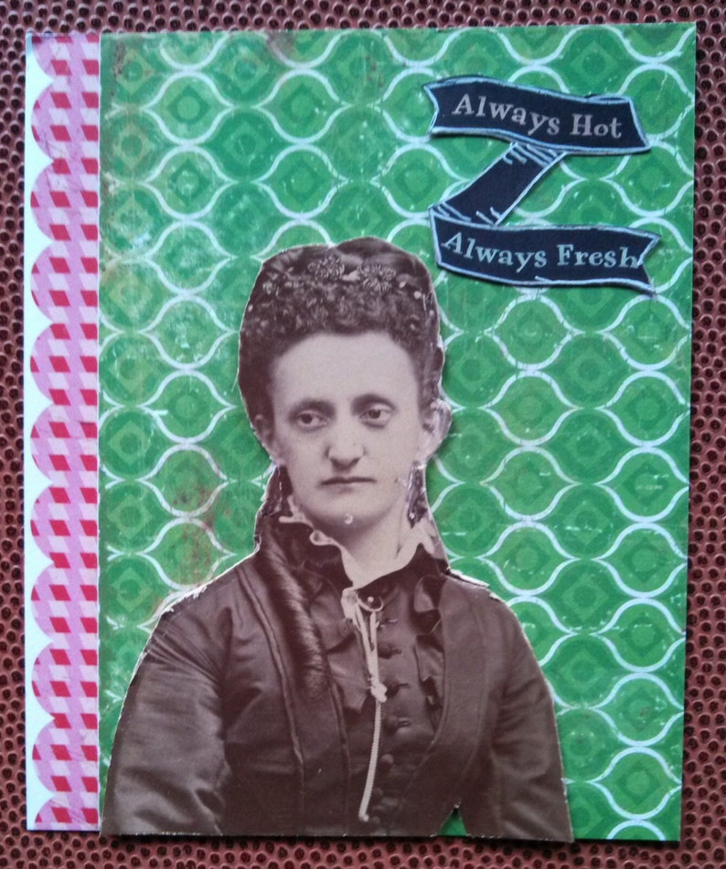 Always Hot Always Fresh Notecard Set Vintage Photo image 0