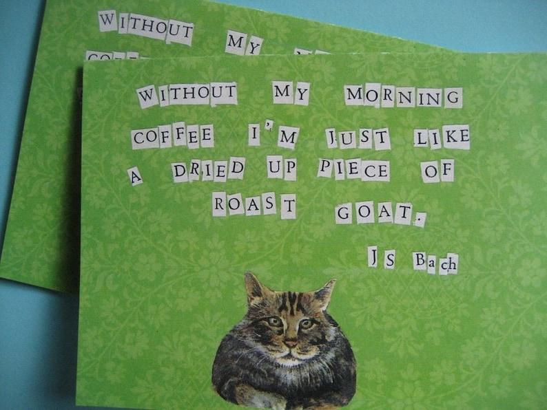 Morning Coffee Cat Notecard Set image 0