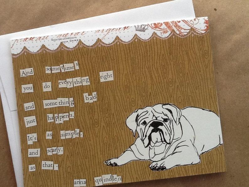 Bad Things Happen Bulldog Single Notecard image 0