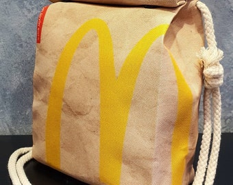 McDonalds Style Handbag - Waterproof Small Bag - Recycled Polyester - Funny Gift Fast Food