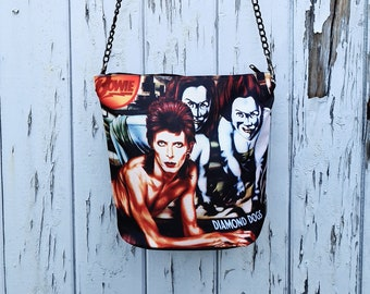 Diamond Dogs Bowie Handbag - Waterproof Bag - Recycled Polyester - David Rock & Roll