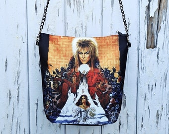 Labyrinth Handbag - Waterproof Bag - Recycled Polyester - David Bowie Movie Poster Fantasy