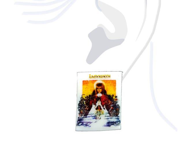 Handmade Labyrinth Movie Poster Earrings - Bowie Goblin King Fantasy Film