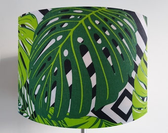 Handmade Tropical Green Leaf Lampshade
