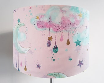 Handmade Pink Moonbeam and Cloud Lampshade