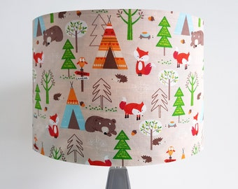 Handmade Woodland Adventure Lampshade