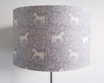 Handmade Grey Scandi Unicorn Lampshade