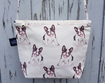 Boston Terrier Canvas Handbag - Bag Purse Puppy Pug Dog