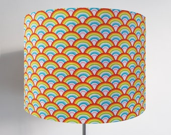 Handmade Rainbow Lampshade - Light Shade Vintage Retro Colourful