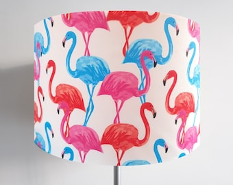 Pink & Blue Flamingo  Lampshade