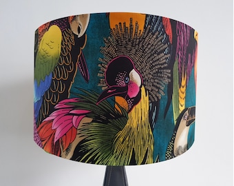 Handmade Birds of Paradise Lampshade