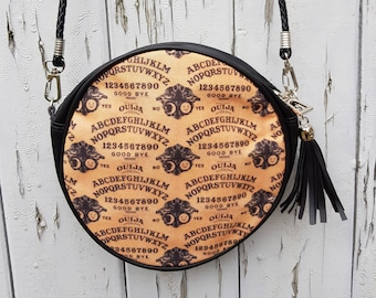 Ouija Board Handbag - Horror Halloween Black Bag Clutch