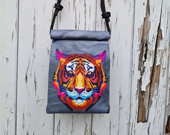 Tiger Box Handbag - Waterproof Small Bag - Recycled Polyester - Animal