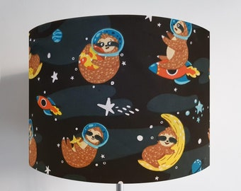 Sloth in Space Lampshade - Cute Moon Bedroom Ceiling Light
