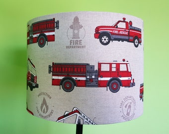 Handmade Fire Engine Lampshade