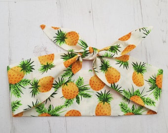 Tropical Hawaiian Pineapple Head Scarf
