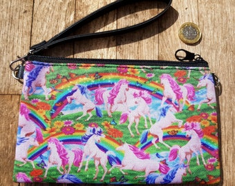 Unicorn & Rainbow Purse - Fantasy Pink Alternative Clutch Bag Horse