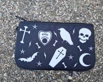 Black Gothic Purse - Horror Ouija Skull Goth Occult Bat Ethical