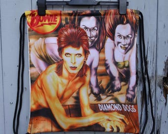 David Bowie Diamond Dogs Backpack - Bag Gym Handbag Vintage Album Cover